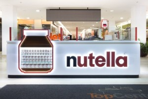 Вкусный киоск Nutella в Бразилии