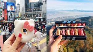 Девушка фотографирует города и их вкусную уличную еду