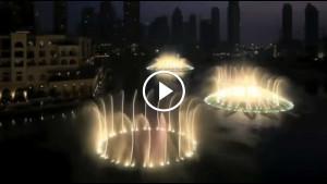 Шикарное зрелище — поющий фонтан в Дубае!