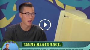 Реакция подростков на Windows 95!