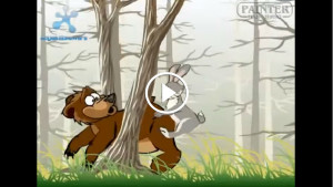 История про медведя и зайца!