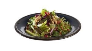Салат с жареным баклажаном и перцем