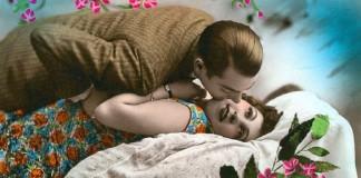 романтично целоваться