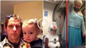 Папа взял на руки маленькую дочь. Мама точно не ожидала увидеть ТАКОЕ, когда взяла в руки камеру…